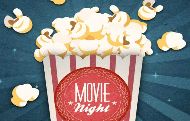 evento per bambini in inglese popcorn night