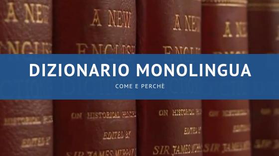 come e perché utilizziare dizionario monolingua