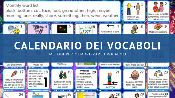 metodi vocaboli calendario