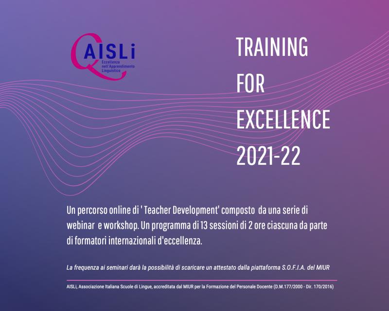formazione docenti AISLi training for excellence